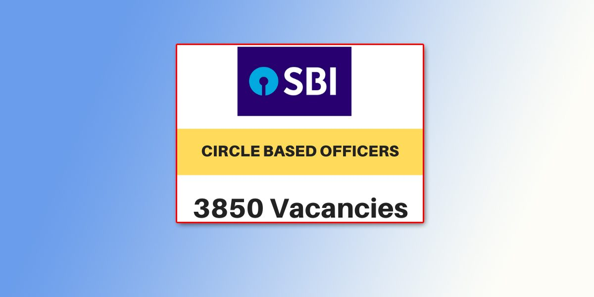 SBI CBO Officer Recruitment